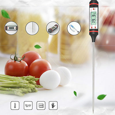 UK Stainless Steel Kitchen Craft 30cm Cooking Thermometer Jam Sugar Deep Frying