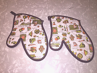 Vintage Two New York Telephone Oven Mitts Equipment Replacement Program