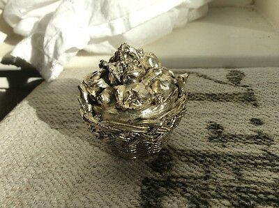Sterling Silver 925 Miniature Basket - R. Argento Made In Italy