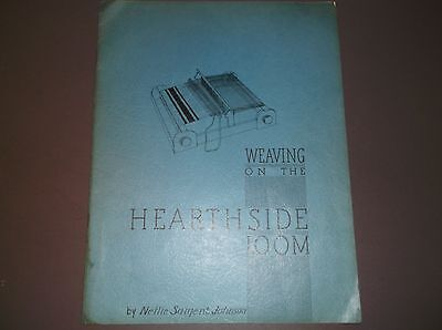 Vintage Magazine size Pamphlet-WEAVING ON THE HEARTH LOOM-Nellie S.Johnson 1942