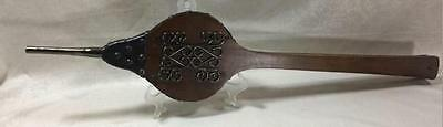 Vintage Retro Wood & Leather Long Handle Working Fire Place Bellows