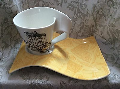 Villeroy & Boch, New Wave cup & saucer, Rome Roma 1748