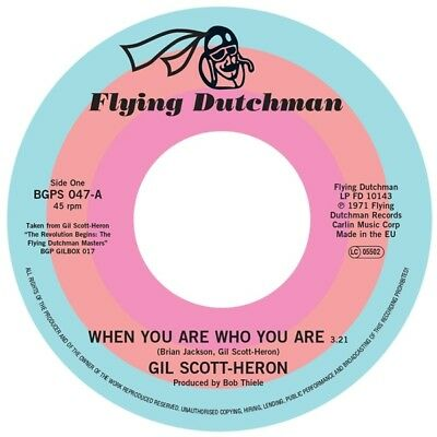 Gil Scott-Heron-When You Are Who You Are-Vinyl 7Inch Ace Recrds Neu