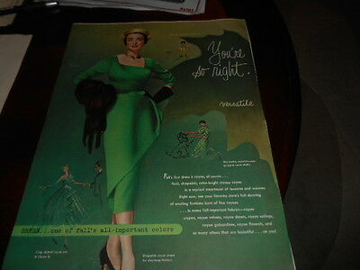 6-Page Dupont Rayon Fashion Advertisement-1950 Styles