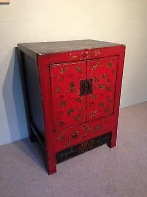 Chinese red butterfly cabinet (reproduction)