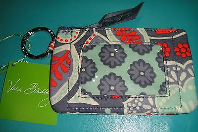 "Vera Bradley  Zip Id Case ""nomadic Floral"" Retired Pattern!  New With Tags! $12"