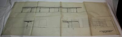 Guest Wife * 1945 MOVIE SET DESIGN CONCEPT ART DRAWING PRINT * Railroad Station