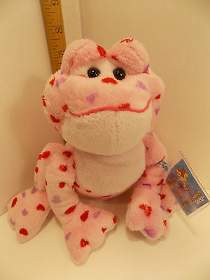 Webkinz GANZ pink/white Frog Collectible. 8 in. tall. More in my eBay store.