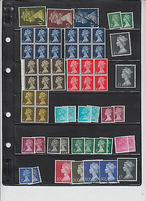 British Machin stamps for the Specalty Collection