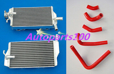 Aluminum Honda Cr250R Cr250 02-04 03 2002 2003 2004 Radiator With Red Hose Kit