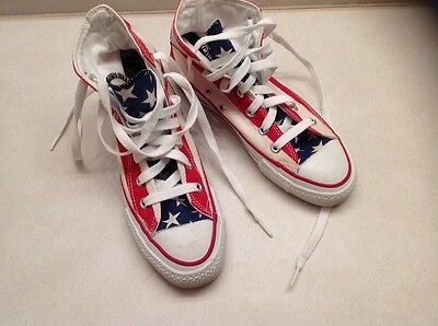Vintage Converse Chuck USA Flag Size 5.5 U.S. Mens Made In the USA