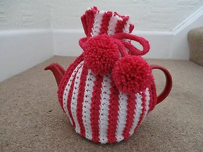 Hand Knitted Tea Cosy To Fit Med Size Tea Pot