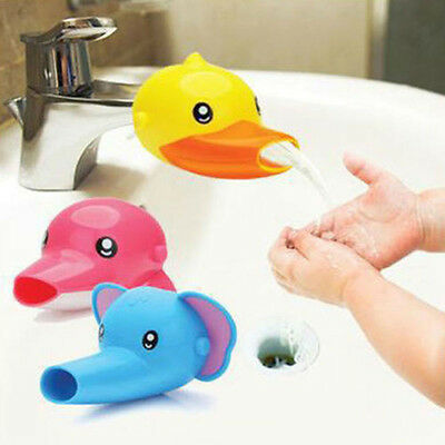 Lovely Baby Kid Child Cartoon Faucet Extender Hand Washing in Bathroom Sink Tool