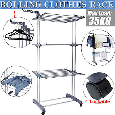 Clothes Airer Horse Indoor 6 Tiers Garment Drying Rack Laundry Hanger Outdoor