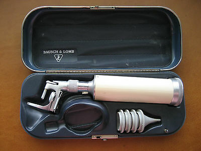 "Vintage Bausch & Lomb Physician Otoscope  ""works"""
