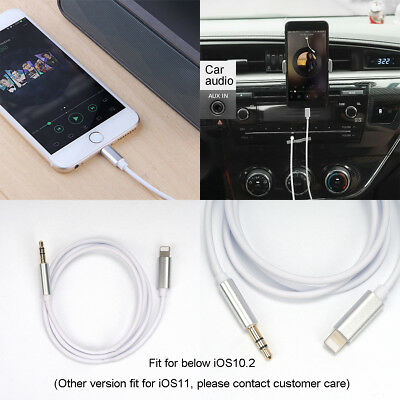 Lightning to 3.5mm Jack Male to Male Audio AUX Lead Cable for iPhone 7 6s
