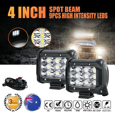 2x4inch 126W PHILIPS LED Light Bar Spot Beam Offroad Work Driving Lamp Truck 4WD