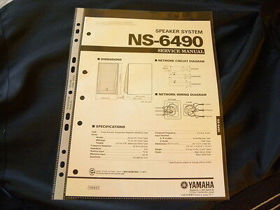 Yamaha NS-6490  Factory Original Service Manual