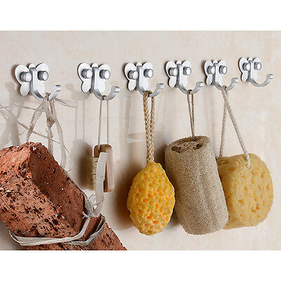 Butterfly Style Wall Bathroom Bedroom Mounted Clothes Coat Towel Hook Hanger