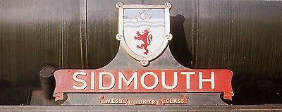 Photo Steam Loco nameplate 6X4  SR West Country Sidmouth