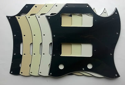 SG Special or Classic Full Face Pickguard for P90 style pickups: various colours