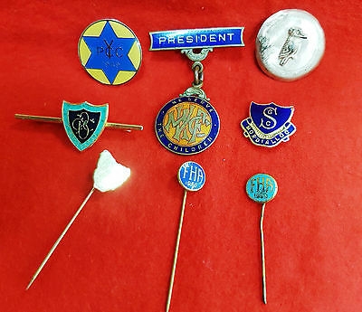 Mixed Lot Of 8 Metal Pins & Badges