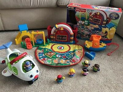 Fisher Price Little People Collection (Preschool, Plane & Boat) Bulk Lot