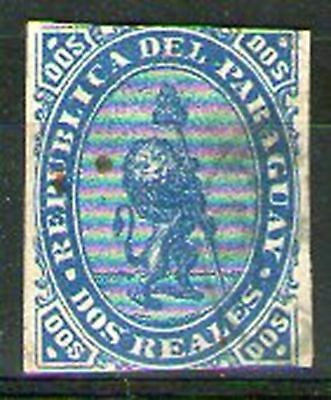 PARAGUAY 2 reales early fake forgery