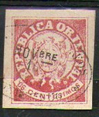 URUGUAY 1864 Coat of arms stamp old forgery fake