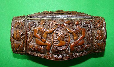 Antique Carved Coquilla Nut Snuff Box Late 18Th/ Early19Th #3