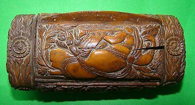 Antique Carved Coquilla Nut Snuff Box Late 18Th/ Early19Th #2
