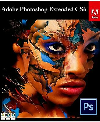 Adobe Photoshop CS6 Extended 32/64 bit. Full Version, With Key, Fast Download