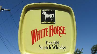 """1960's Circa Whitehorse """"Fine Old Scotch Whisky"""" Drinks Tray """"The White Horse Ce"""