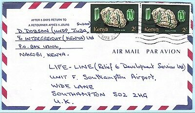KENIA KENYA Brief Cover 105 Minerale (26124)