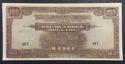 WWII Japanese Occupation Money- One Hundred Dollars UNC and RARE