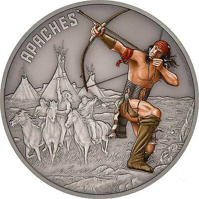 2017 Warriors of History – Apache 1oz Silver Coin