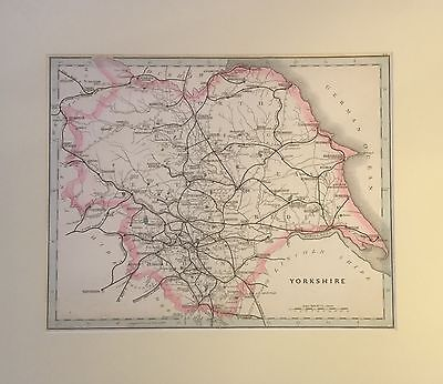 Original County Map of Yorkshire, Cruchley, 1863