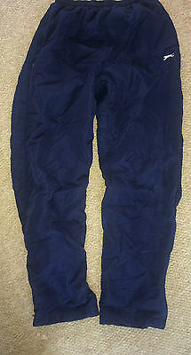 """Size 28""""W/30""""W (age 13 Teenager) Authentic Slazenger Navy Tracksuit Bottoms"""