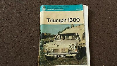Triumph 1300 workshop manual USEABLE CONDITION AS IN PIC