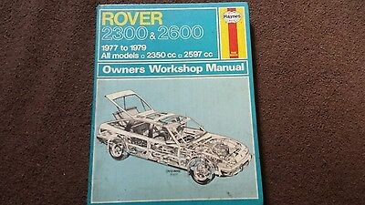 Rover 2300 and 2600 haynes workshop manual USEABLE CONDITION AS IN PIC