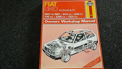 Fiat uno  haynes workshop manual useable CONDITION AS IN PIC