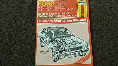 Ford cortina haynes workshop manual USEABLE CONDITION AS IN PIC