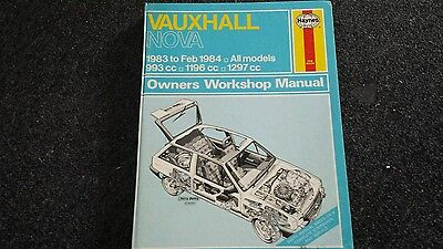 Vauxhall nova haynes workshop manual GOOD CONDITION AS IN PIC