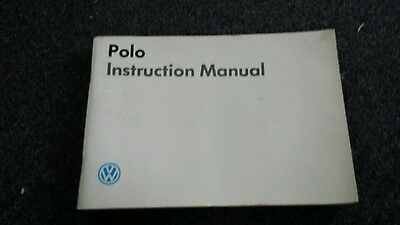 Vw polo instruction manual good  CONDITION AS IN PIC