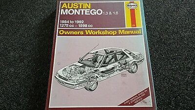 Austin montego haynes workshop manual useable  CONDITION AS IN PIC