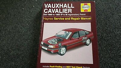 Vauxhall cavalier  haynes workshop manual useable  CONDITION AS IN PIC