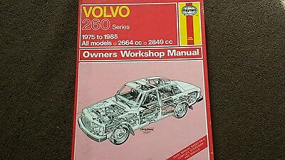 Volvo 260 haynes workshop manual USEABLE CONDITION AS IN PIC