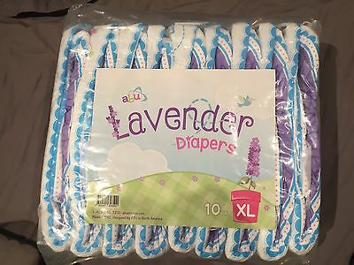 ABU Lavender Diapers - Xtra Large - Plastic - Adult Baby - AB/DL