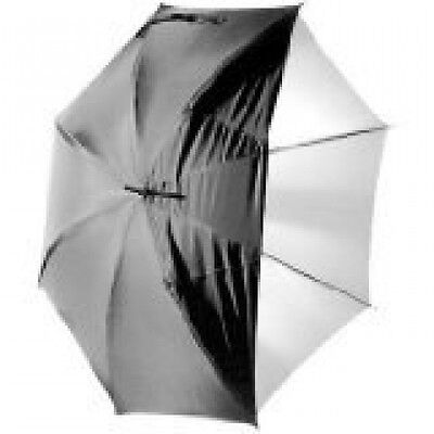 CowboyStudio 33in White Satin Umbrella with Reflective Silver Backing and