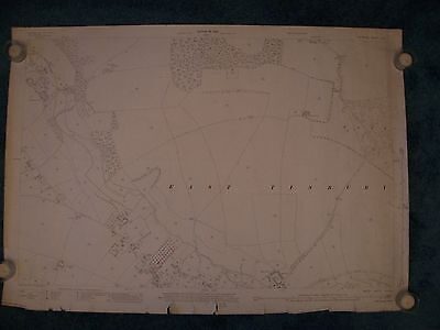 Vintage 1925 OS 25 inch map of EAST TISBURY Wiltshire